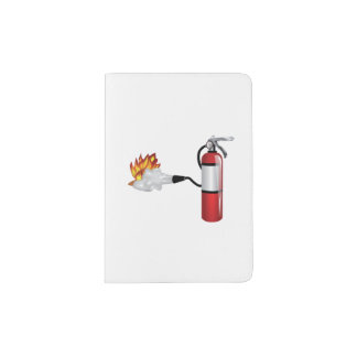 Fire Extinguisher Putting Out Fire Passport Holder
