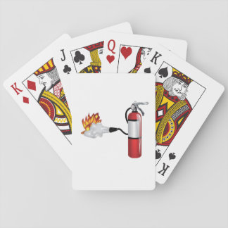 Fire Extinguisher Putting Out Fire Playing Cards