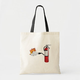 Fire Extinguisher Putting Out Fire Tote Bag