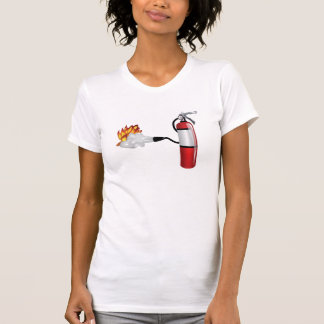 Fire Extinguisher Putting Out Fire Womens T-Shirt