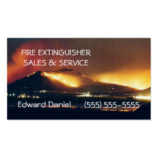 Fire-Extinguisher Sales Pack Of Standard Business Cards