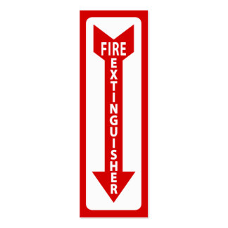 fire extinguisher sign pack of skinny business cards