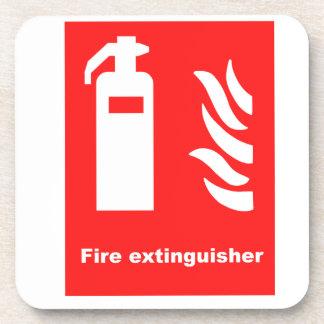 Fire Extinguisher Symbol Coaster