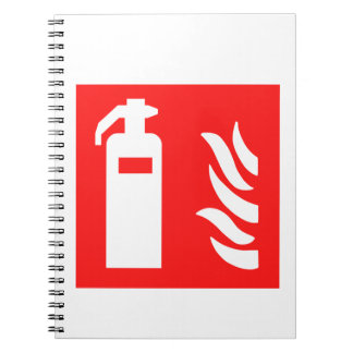 Fire Extinguisher Symbol Notebooks