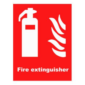 Fire Extinguisher Symbol Postcard
