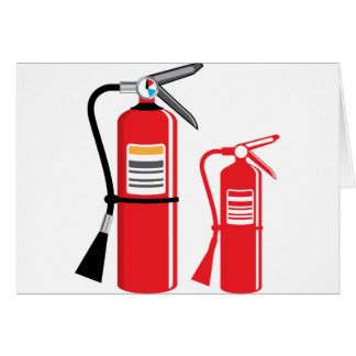 Fire extinguisher Vector Card