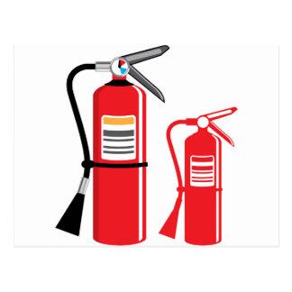 Fire extinguisher Vector Postcard