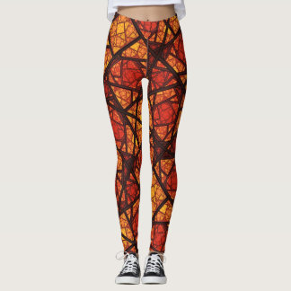 """Fire Eye"" Custom Fractal Art Leggings"