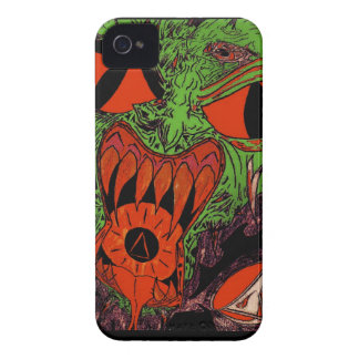 Fire Face 1b for blackberry bold iPhone 4 Cases