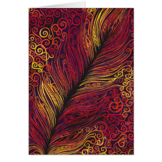 Fire Feather Greeting Card