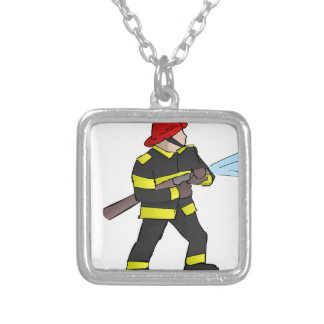 Fire Fight Silver Plated Necklace