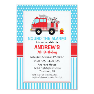 Fire fighter Birthday Invitation