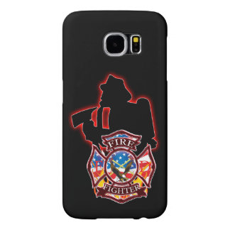 Fire fighter fighting the flames samsung galaxy s6 cases