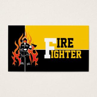 Fire fighter/fireman eye catching business cards