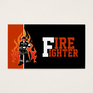 Fire fighter/fireman eye catching business cards