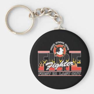 Fire Fighter First In, Last Out Key Ring