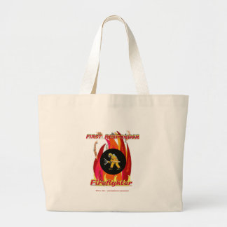 Fire Fighter FirstResponder Jumbo Tote Bag