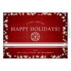 Fire Fighter Happy Holidays   Christmas Custom Card