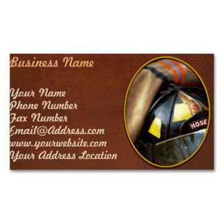 Fire Fighter - Hose company one Magnetic Business Card