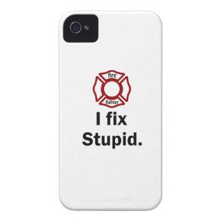 Fire Fighter I fix stupid. iPhone 4 Case
