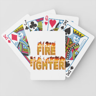 FIRE FIGHTER in Flames Poker Deck