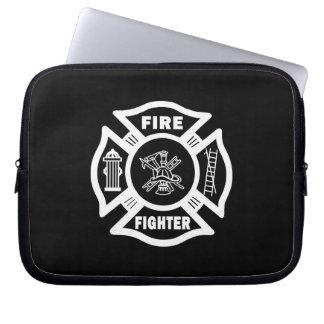 Fire Fighter Maltese Laptop Sleeve