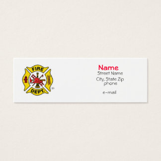 Fire Fighter Profile Card