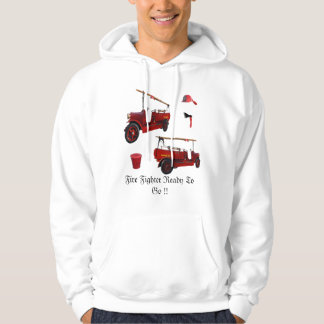 Fire Fighter Ready To Go Logo, Hoodie