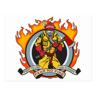 Fire Fighters Fear No Fire Post Cards