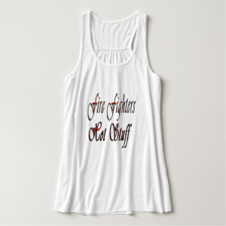 Fire Fighters Hot Stuff Logo, Ladies Flowy Tanktop Singlet
