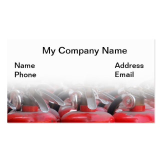 Fire Fighting and Fire Extinguishers Pack Of Standard Business Cards