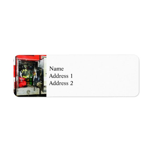 Fire Fighting Gear Return Address Label