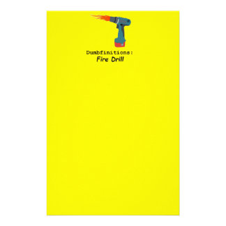 Fire! Fire Drill No Mellow Yellow Stationary Stationery