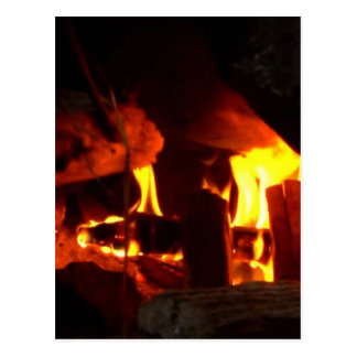 FIRE : Fireplace Hearth Postcard