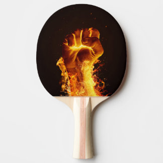 Fire Fist Ping Pong Paddle