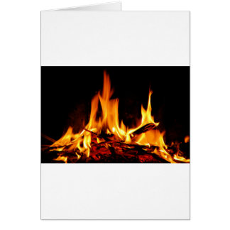 fire flame on black background cards