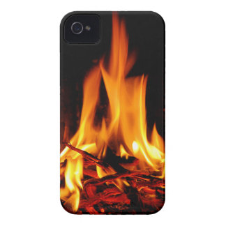 fire flame on black background iPhone4 case