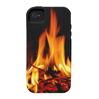 fire flame on black background iPhone 4/4S covers