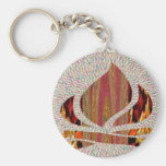 FIRE Flame symbol of SOUL POWER gifts fun festival Basic Round Button Key Ring