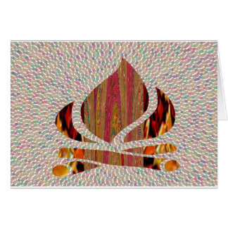 FIRE Flame symbol of SOUL POWER gifts fun festival Greeting Card