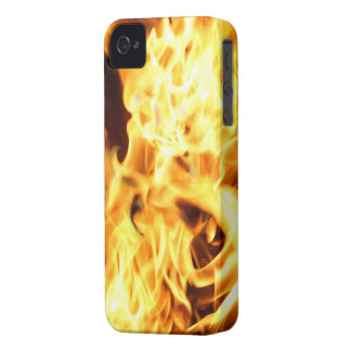 Fire & Flames Burning Fiery Blackberry Phone Case iPhone 4 Cases