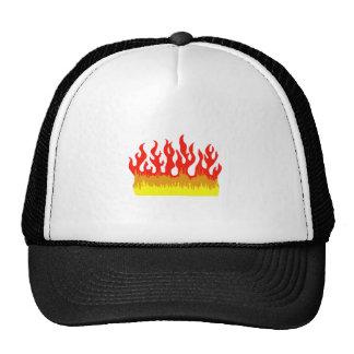 FIRE FLAMES TRUCKER HAT