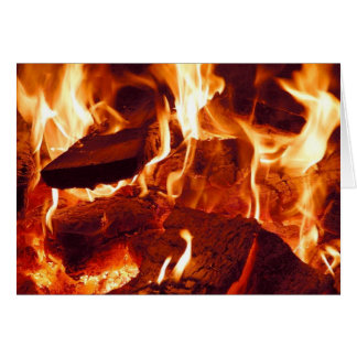 Fire Flames Greeting Card
