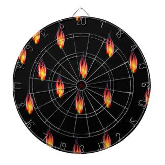 Fire flames dartboard