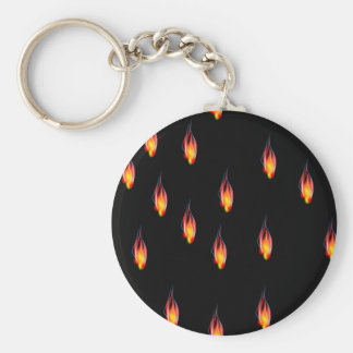 Fire flames key ring