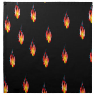 Fire flames napkin