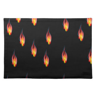 Fire flames placemat