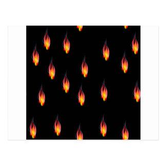 Fire flames postcard
