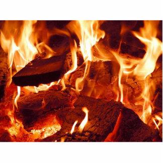 Fire Flames Standing Photo Sculpture