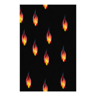 Fire flames stationery